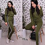 Женский модный спортивный костюм: укороченный свитшот и брюки (3 цвета), фото 5
