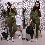 Женский модный спортивный костюм: укороченный свитшот и брюки (3 цвета), фото 6