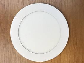 Светодиодный cветильник накладной ультратонкий SL12L 12W 5000K круглый белый Код.59254
