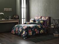 ТАС Digital евро комплект постельного белья сатин Midnight Bloom yesil