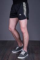 Мужские короткие спортивные шорты ADIDAS. Цвет - черный