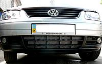 Декоративно-защитная сетка радиатора Volkswagen Caddy 2003-  фальшрадиаторная решетка, бампер, фото 1
