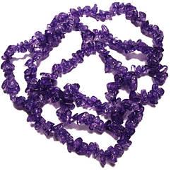 Бусины Сколы Кварц Сиренево - Фиолетовые, Крошка Кубиками, Размер: 4-6*4-6 мм. Отв. 1мм. около 85 см. нить
