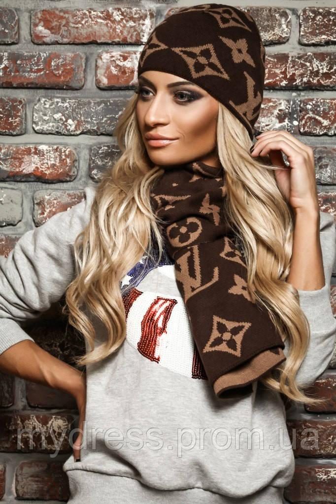 Комплект LOUIS VUITTON шапка и шарф