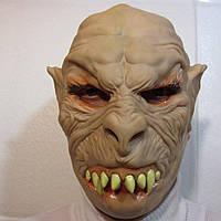 Маска зубастого на Хэллоуин, резиновая маска