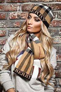 Стильный комплект Burberry шапка и шарф