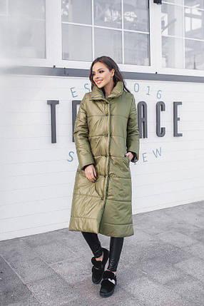 """Стеганое женское пальто на синтепоне """"SLIM"""" с карманами (4 цвета), фото 2"""