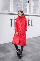 """Стеганое женское пальто на синтепоне """"SLIM"""" с карманами (4 цвета), фото 3"""