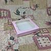 Коробка для пряников Пудра с окном  200*200*30