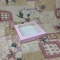 Коробка для пряников Пудра с окном  200*200*30 , фото 1
