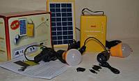 Солнечная система Solar Home System 4500 mAh с лампами + подзарядка телефона