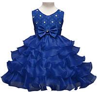 """Синее платье для девочки """"Волны"""", фото 1"""