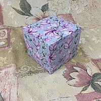 Коробка для 1-ого кекса / 100х100х90 мм / печать-Магнолия / б.о. / лк / цв, фото 1