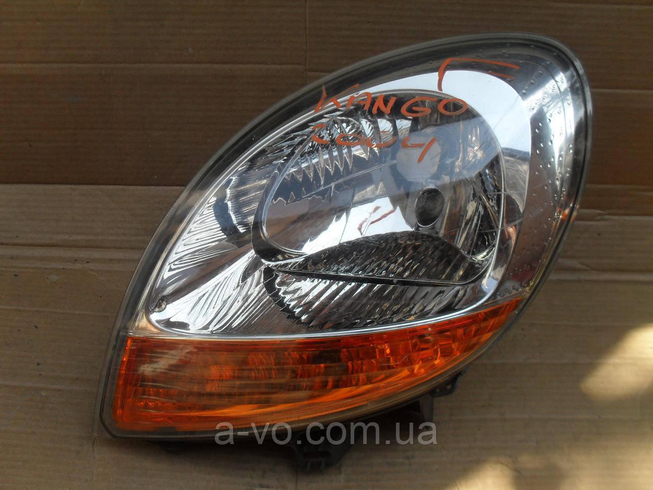 Фара основная левая для Renault Kangoo 1, (2003-2005) Valeo 8200150614, 89008437, 89008681, 89009621