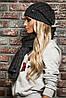 Модный комплект Armani Jeans шапка и шарф, фото 4