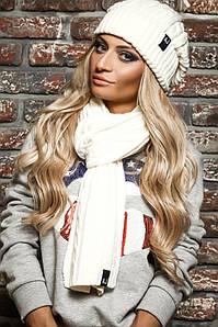 Модный комплект Armani Jeans шапка и шарф