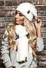 Модный комплект Armani Jeans шапка и шарф, фото 2