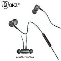 Наушники с микрофоном QKZ X41M Магнитные