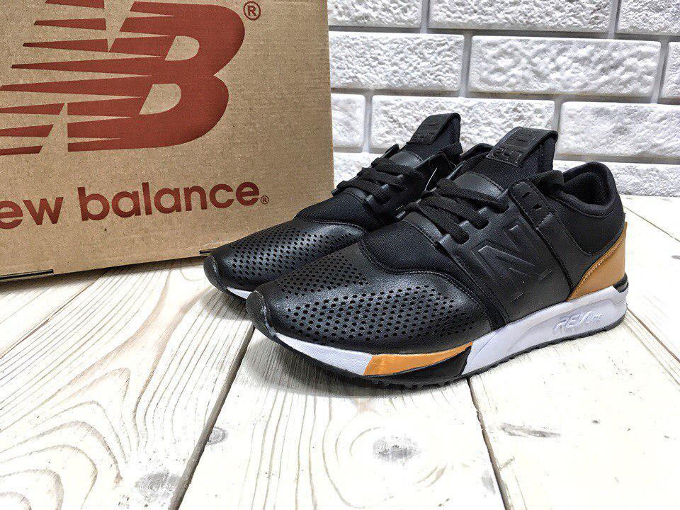 9216237faf36 Кроссовки мужские New Balance 247 код товара Z-1221. Черные с коричневым -