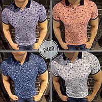 Мужская брендовая футболка поло 2018 с принтом - Макарун