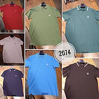 Мужская батальная брендовая футболка поло 2018 - Однотонная