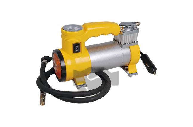 Миникомпрессор автомобильный Miol - с фонариком 12 В, 10 bar, 35 л/мин, фото 2