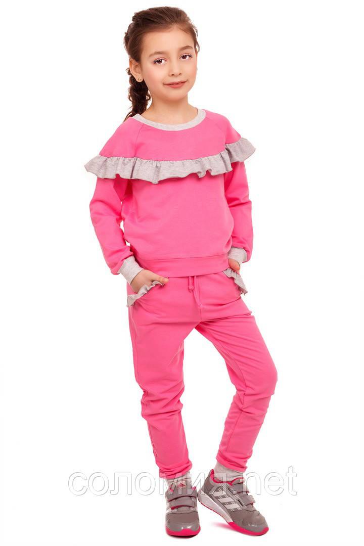 Забавный розовый спортивный костюм для девочки 110-122р