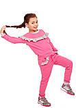 Забавный розовый спортивный костюм для девочки 110-122р, фото 4
