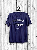 Мужская футболка Defend paris / Футболка мужская дефенд (реплика)