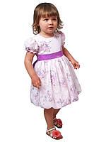 """Платье нарядное детское из х\б с поясом М -1030  рост 80-104 тм """"Попелюшка"""", фото 1"""