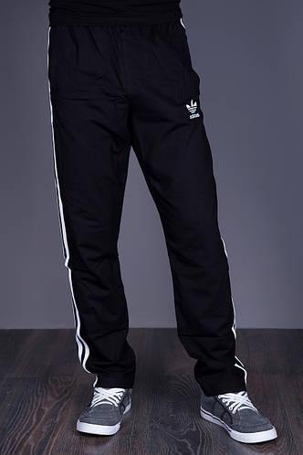 Спортивные штаны Adidas черного цвета (трикотаж). Хмельницкий - фото 1
