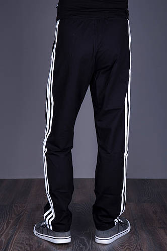 Спортивные штаны Adidas черного цвета (трикотаж). Хмельницкий - фото 3