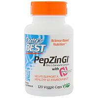 Doctor's BESTпатентованный цинк-карнозин PepZinGl120 veg caps