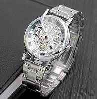 Женские наручные часы Skeleton Silver, фото 1