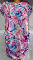 Платье свободного кроя женское полубатальное (креп-софт) (L/46)