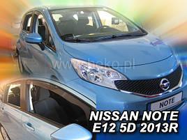 Дефлекторы окон (ветровики)  NISSAN NOTE - II E12 2013-> (HEKO)
