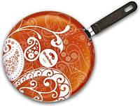 """Сковорода для блинов Granchio Crepe """"Ornamento"""" d=26 см. оранжевая 88274"""