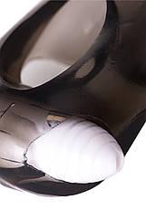 Насадка Toyfa XLover, для збільшення розміру з вібрацією, TPE, чорна прозора, 15,5 см