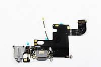 Шлейф для iPhone 6, с разъемом зарядки, с коннектором наушников, с микрофоном, темно-серый