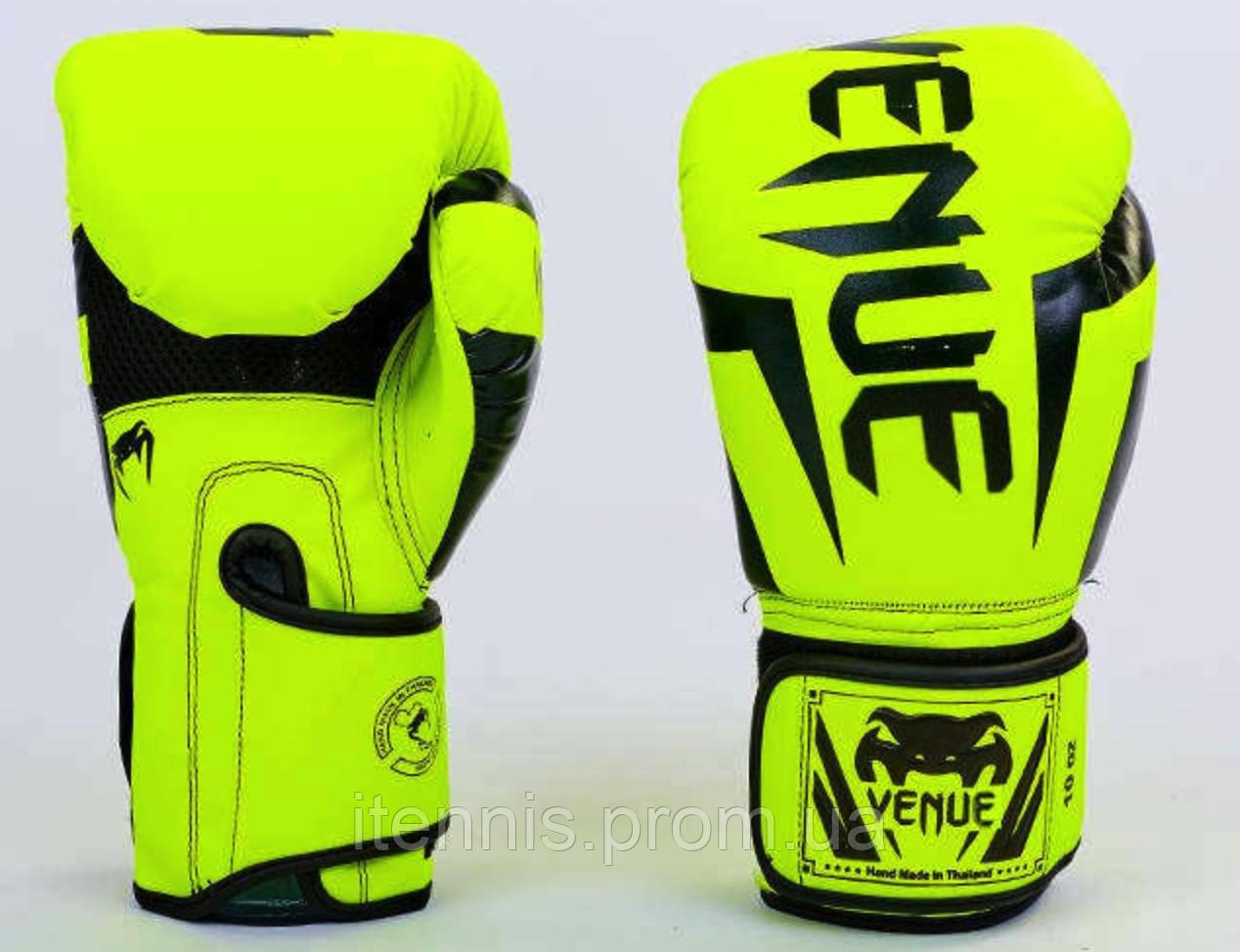 Перчатки боксерские VENUM на липучке PU (Y)