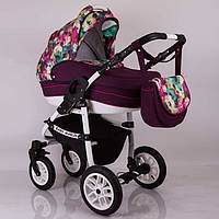 Детская универсальная коляска 2 в 1  Baby Marlen White Brown