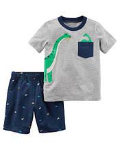 Набор для мальчика Дино (шортики + футболка) арт.229G665 (Carters)