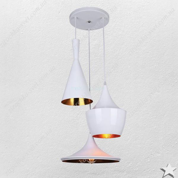 Люстра подвес лофт 3 лампы белый 6403