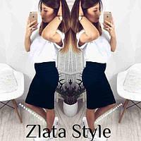 Трикотажная юбка миди  в размерах 42-48, фото 1