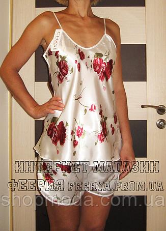Атласная пижама FLOWER  (48 размер,  размер L ), фото 2