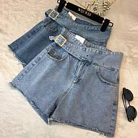 Джинсовые шорты с косой пряжкой, фото 1