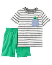 Набор для мальчика Монстрик (шортики + футболка) арт.229G685 (Carters)
