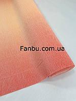 """Креп бумага с переходом,цвет""""персиково-розовый от Тиффани Тернер"""" №17 А/7( лист 0.5м*0.5м)"""