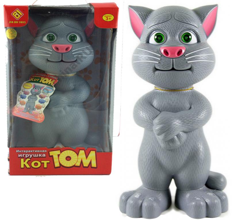 Говорящий кот Том (серый) интерактивная игрушка