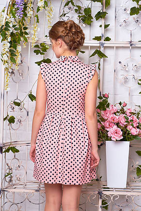 """Платье """"Аманда"""" (горох персик) - размер L, фото 2"""